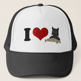 I Love Spaghetti Cat Trucker Hat