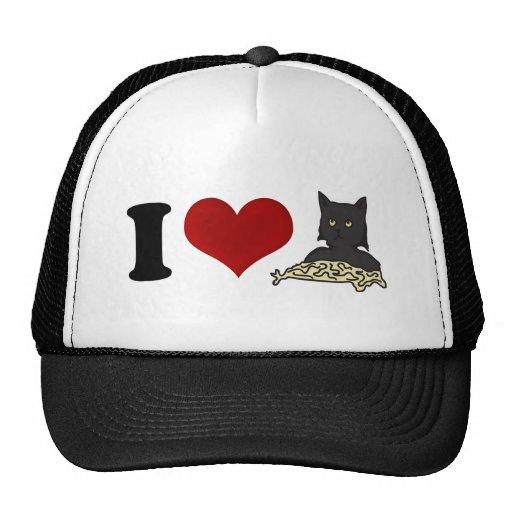 I Love Spaghetti Cat Trucker Hat