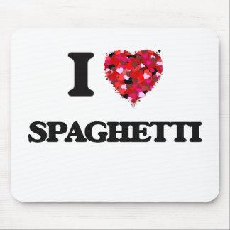 I Love Spaghetti food design Mouse Pad