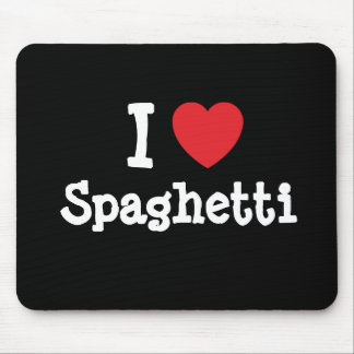 I love Spaghetti heart T-Shirt Mouse Mat