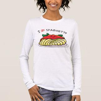 I love spaghetti long sleeve T-Shirt