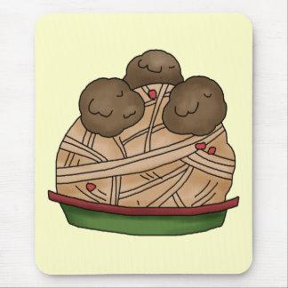 I Love Spaghetti Mouse Pad