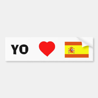 I love Spain Bumper Sticker
