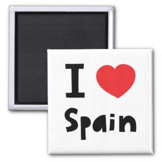 I love Spain Square Magnet