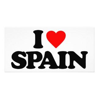 I LOVE SPAIN PHOTO GREETING CARD