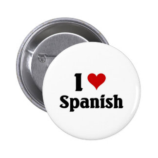I love spanish 6 cm round badge