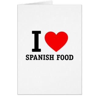 I Love Spanish Food Cards