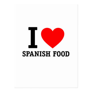 I Love Spanish Food Postcard