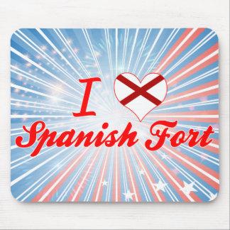 I Love Spanish Fort, Alabama Mouse Pad