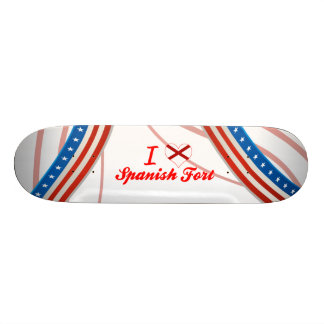 I Love Spanish Fort, Alabama Custom Skateboard