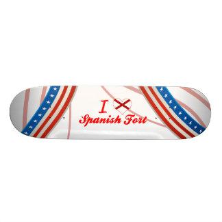 I Love Spanish Fort Alabama Custom Skateboard