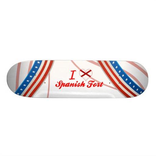 I Love Spanish Fort, Alabama Custom Skateboard