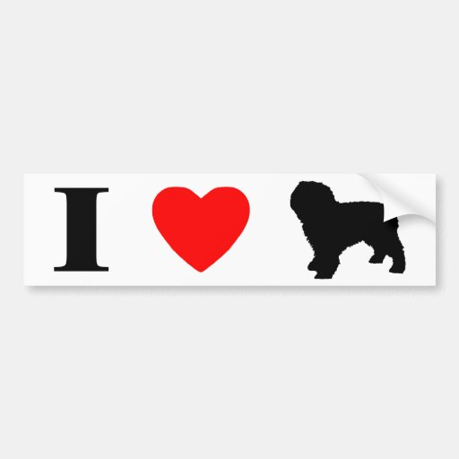 I Love Spanish Water Dogs Bumper Sticker