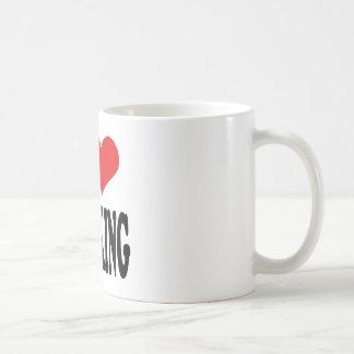 I Love Spanking Basic White Mug
