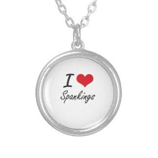 I love Spankings Round Pendant Necklace