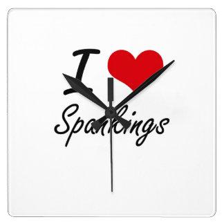 I love Spankings Wallclock