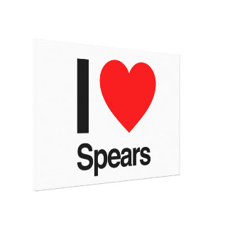 i love spears gallery wrapped canvas