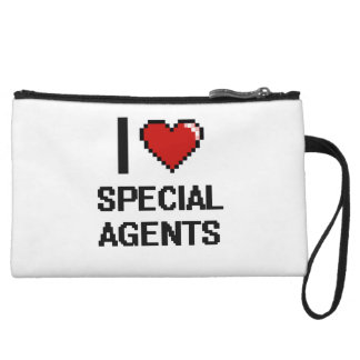 I love Special Agents Wristlet Clutches