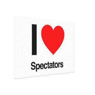 i love spectators canvas print