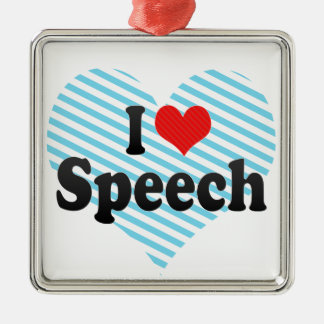 I Love Speech Christmas Ornament