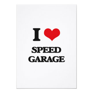 I Love SPEED GARAGE Customized Invitation Cards