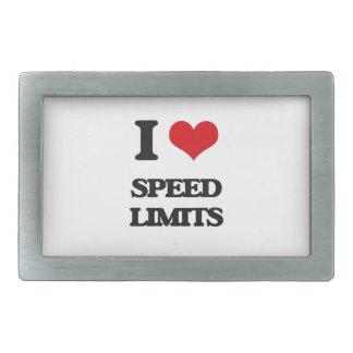 I love Speed Limits Rectangular Belt Buckle