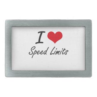 I love Speed Limits Belt Buckles