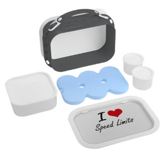 I love Speed Limits Lunch Boxes