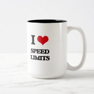I love Speed Limits Two-Tone Mug