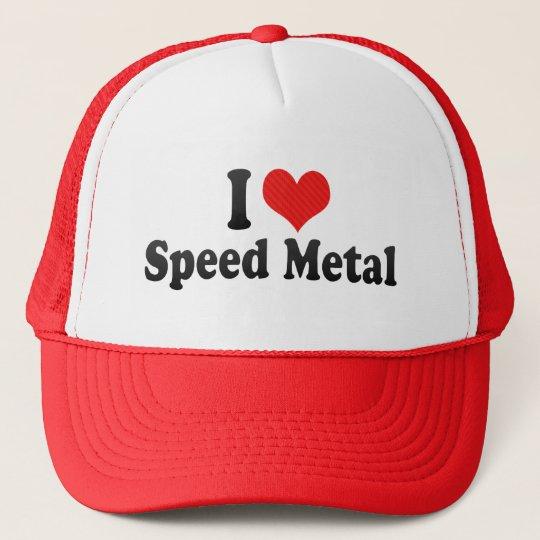 I Love Speed Metal Cap