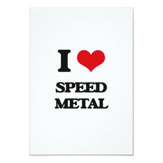 I Love SPEED METAL Custom Announcement Cards