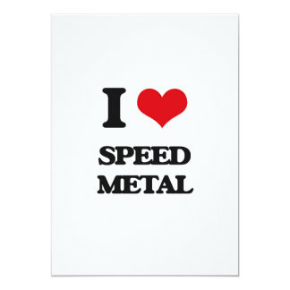 I Love SPEED METAL Announcement Cards
