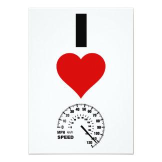 I Love Speed (Vertical) 13 Cm X 18 Cm Invitation Card