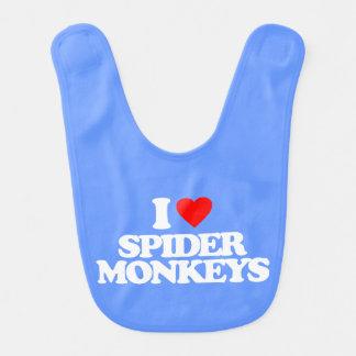 I LOVE SPIDER MONKEYS BIB