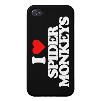 I LOVE SPIDER MONKEYS iPhone 4/4S COVERS