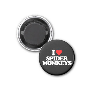 I LOVE SPIDER MONKEYS REFRIGERATOR MAGNETS