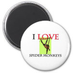 I Love Spider Monkeys Magnets