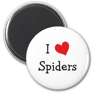 I Love Spiders 6 Cm Round Magnet