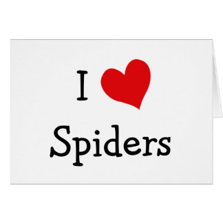 I Love Spiders Card
