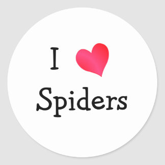 I Love Spiders Classic Round Sticker