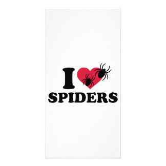 I love Spiders Customised Photo Card