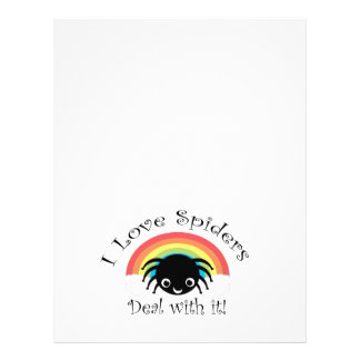 I love spiders deal with it 21.5 cm x 28 cm flyer