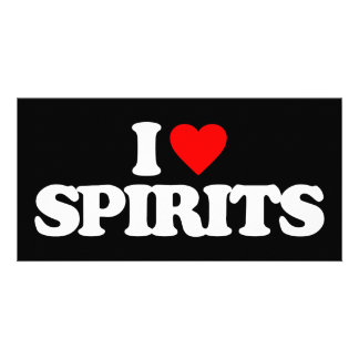 I LOVE SPIRITS PICTURE CARD