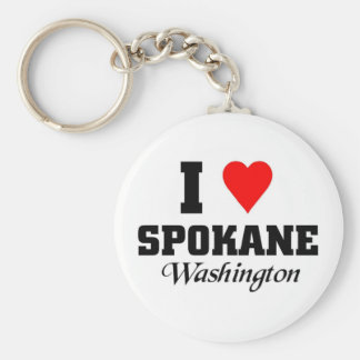 I love Spokane Washington Key Ring