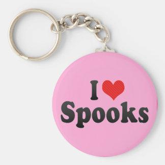 I Love Spooks Key Chain