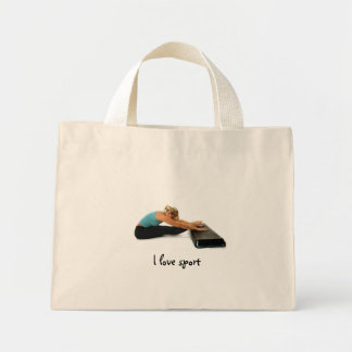 I love sport mini tote bag