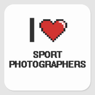 I love Sport Photographers Square Sticker
