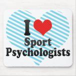 I Love Sport Psychologists Mouse Pads