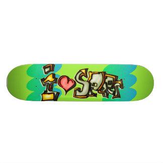 I Love Sports 20.6 Cm Skateboard Deck