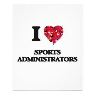 I love Sports Administrators 11.5 Cm X 14 Cm Flyer